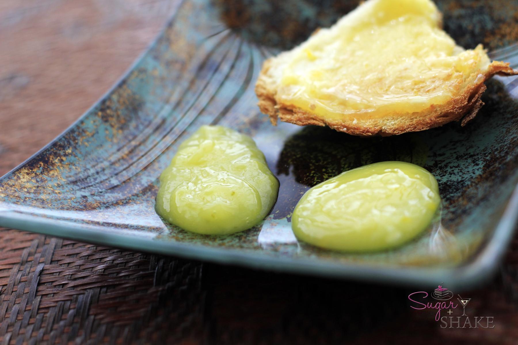 Lemon curd and lime curd. © Sugar + Shake