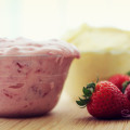 "Strawberry cream cheese! And ""plain vanilla"" cream cheese too. © 2012 Sugar + Shake"