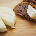 Naked Cow Dairy's Big Cream Little Rind cheese on a crusty, multi-grain bread. © 2012 Sugar + Shake