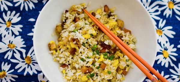 Chinese Roast Pork Fried Rice. © 2012 Sugar + Shake