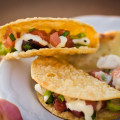 Poke Tacos from Hula Grill at Progressive Kā'anapali, the first of the Kā'anapali Fresh Food & Wine Festival events. One of our favorite dishes of the evening. © 2012 Sugar + Shake