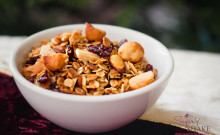 Shake's Cranberry Mac Nut Crunch Granola. © 2012 Sugar + Shake