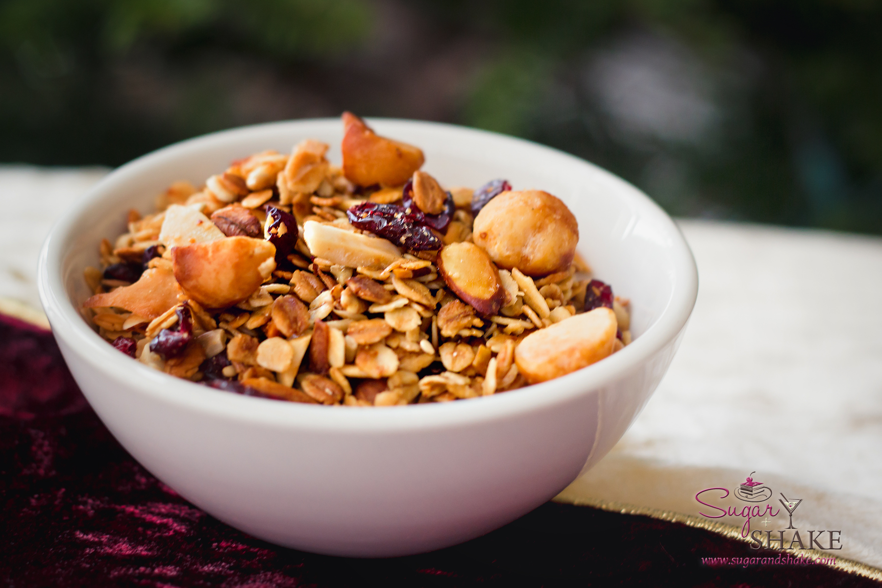 Shake's Cranberry Mac Nut Crunch Granola. © 2012 Sugar + Shake