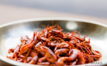 River 'Ōpae (Shrimp). Wok-fried and crisped in the oven. © 2014 Sugar + Shake