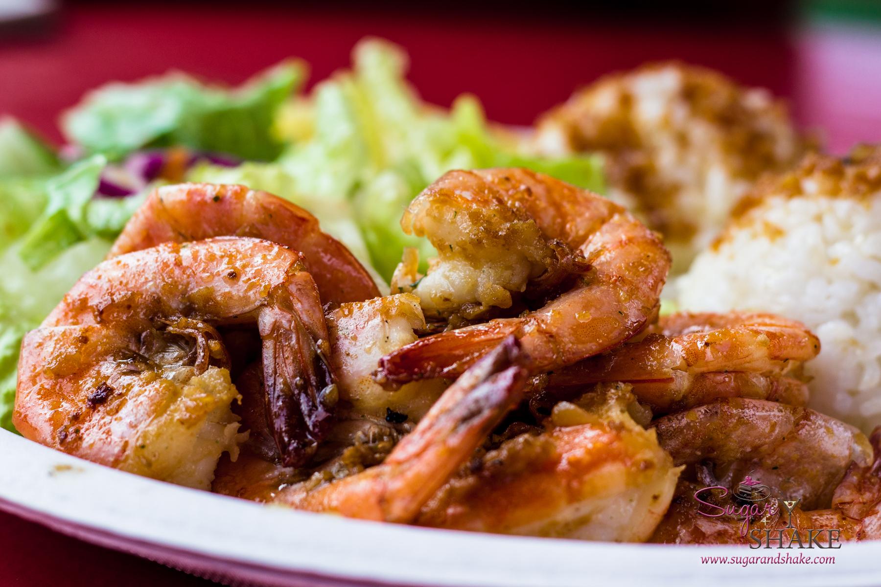 Macky's shrimp plate. © 2013 Sugar + Shake