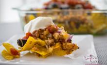 Ground turkey and quinoa nachos. Healthy, right? © 2014 Sugar + Shake
