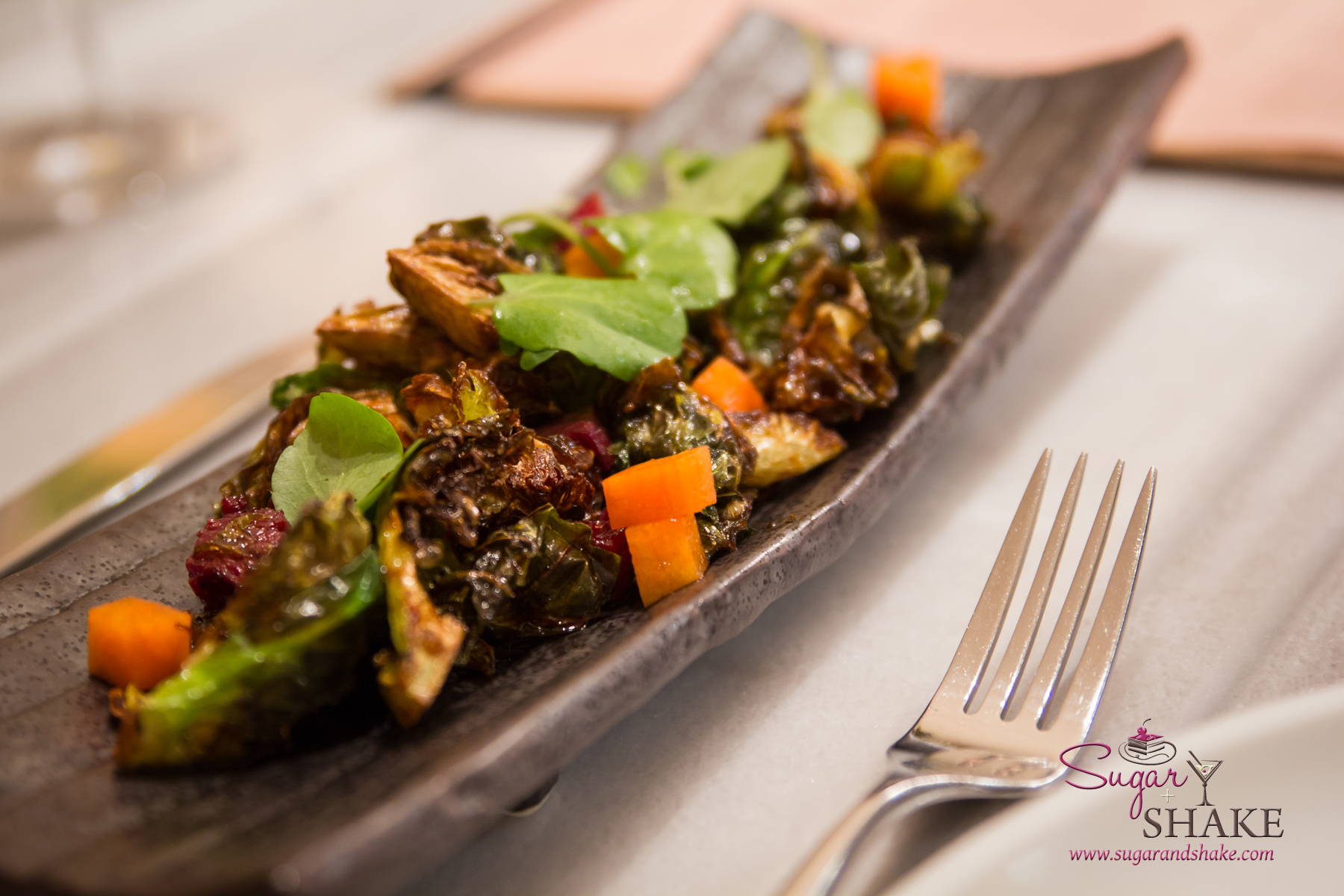 Brussels Sprout Salad at Ka'ana Kitchen. © 2014 Sugar + Shake