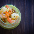 Green Gazpacho: cucumber, grapes, garlic. © 2014 Sugar + Shake