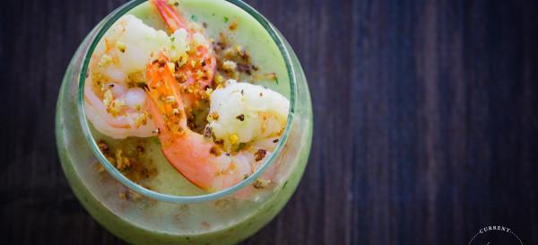 Green Gazpacho: cucumber, grapes, garlic. © 2014 Sugar + Shake