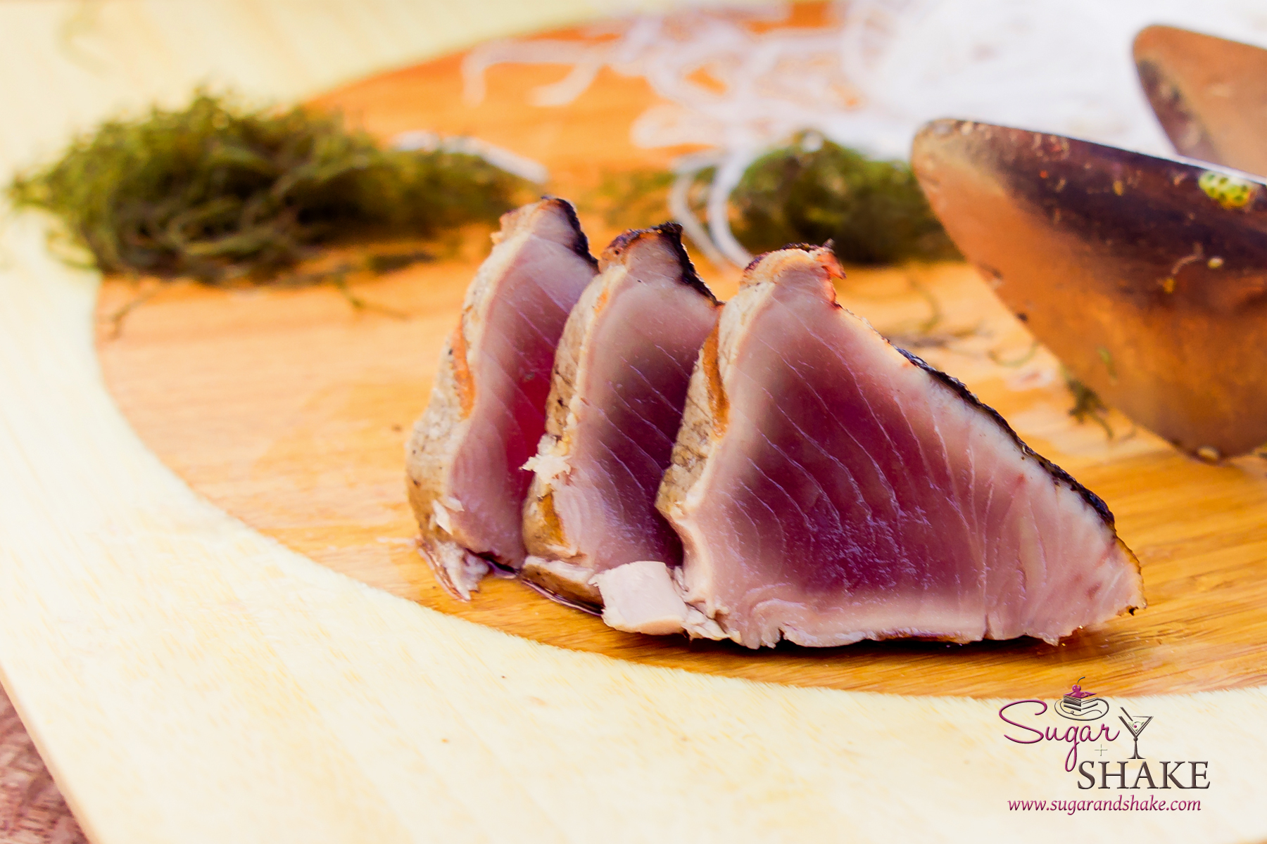 Seared aku (skipjack or bonito) at Japengo at the Hyatt Maui. © 2014 Sugar + Shake