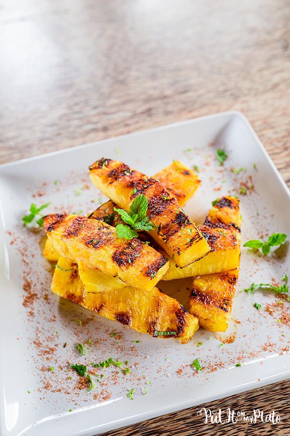 Spicy Grilled Li Hing Mui Pineapple © 2020 Put It On My Plate / Sugar + Shake
