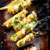 Grilled Corn with Creamy Kim Chee Spread © 2020 Put It On My Plate / Sugar + Shake